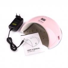 Лампа SUN 6 LED+UV 48W Pink (розовая)